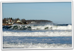 Crashing Waves in York Beach ME