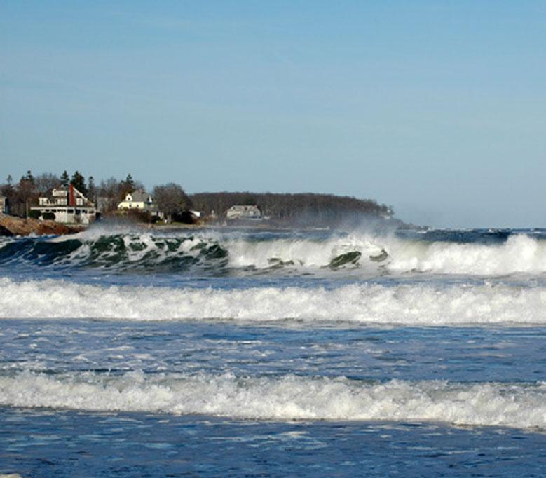Crashing Waves In York Beach Me